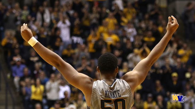 WVU's Coach Huggins and Players talk 57-54 win over Baylor