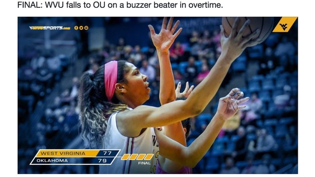 West Virginia and Oklahoma need Overtime to settle the game