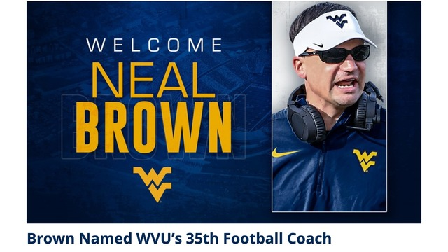 WVU Welcomes Coach Brown, watch the press conference live ...